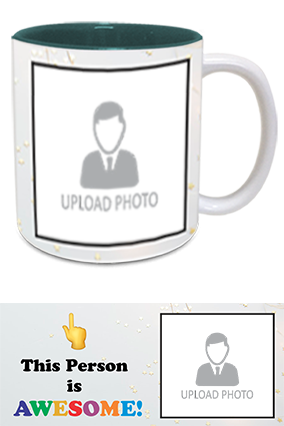 Awesome Person Customized Trendy Inside Green Mug