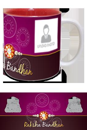 Simple and Personalized Raksha Bandhan Inside Red Mug