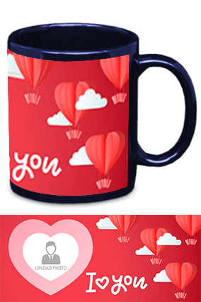I Love You Blue Patch Mug