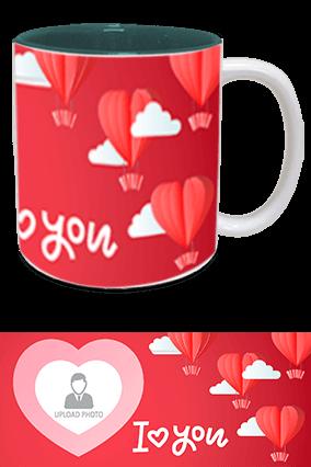 I Love You Inside Green Mug