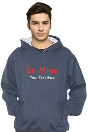 Be Mine Customized Hoodie (Navy Blue)