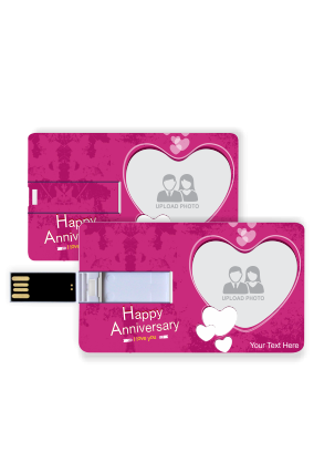 Pink Colored Credit Card Pen Drive