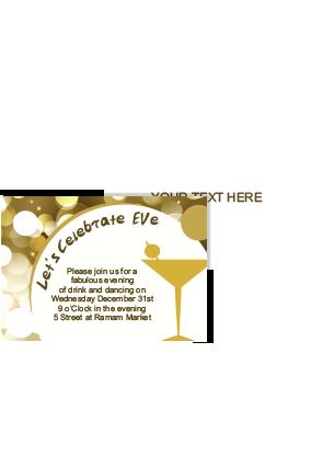 toast to life new year invitation card