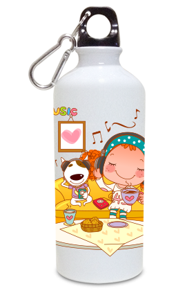 Artful 600ml White Sipper
