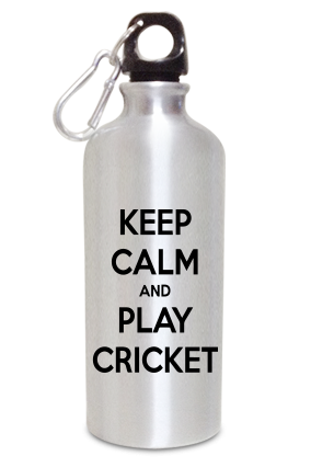 Keep Calm 600ml Silver Sipper