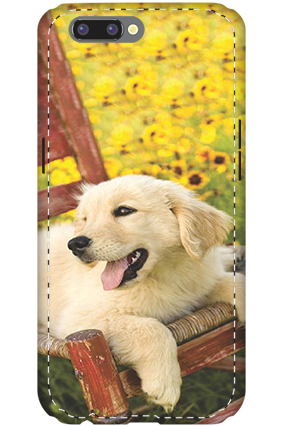 3D- Oppo R11 Cute Dog Mobile Cover