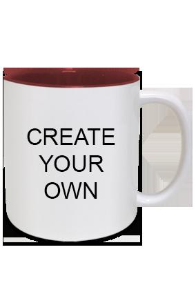 Create Your Own Inside Maroon Mug