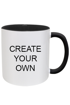 Awesome Create Your Own Inside Black Mug With Black Handle