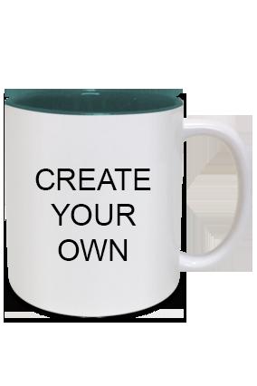 Create Your Own Inside Green Mug