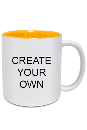 Create Your Own Inside Yellow Mug