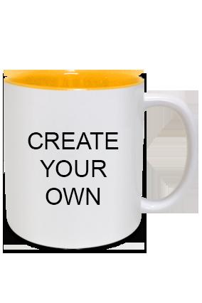 Create Your Own Inside Yellow Mug
