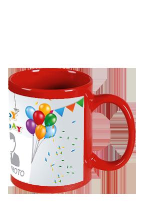 Happy Birthday Red Patch Mug