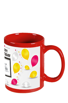 Balloons Red Patch Mug