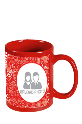 Funky Red Patch Mug