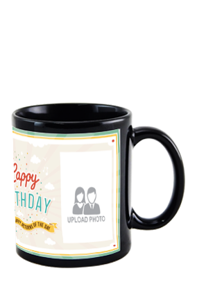 Personalized Greetings Black Patch Mug