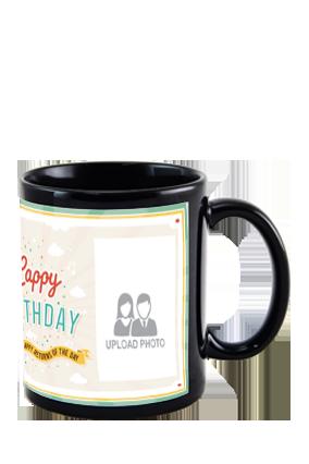 Greetings Black Patch Mug