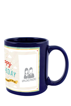 Greetings Blue Patch Mug