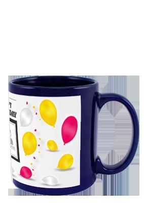 Balloons Blue Patch Mug