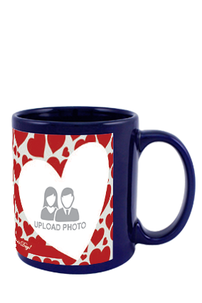 Big Hearts Blue Patch Mug