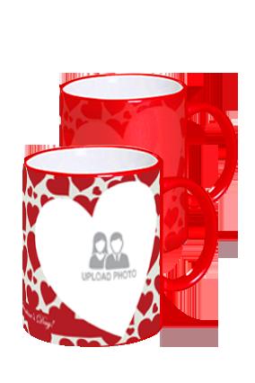 Big Hearts Red Magic Mug