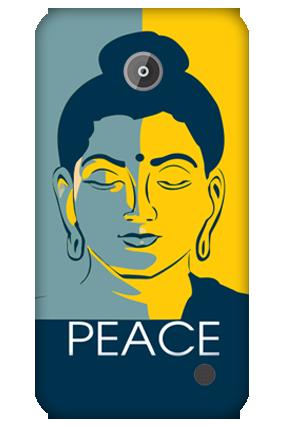 Printed Nokia Lumia 630 Buddha Peace Cover