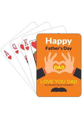 Love You Dad  Fathers Day Playing Cards