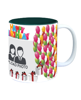 Balloons Inside Green Mug