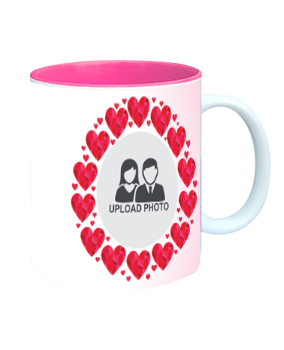 Heartful Inside Pink Mug