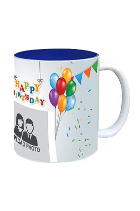 Happy Birthday Inside Blue Mug
