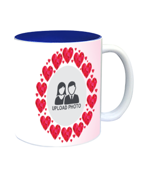 Personalized Heartful Inside Blue Mug