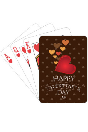 Chocolate Love Valentine Day Playing Cards