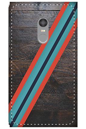 3D - Xiaomi Redmi Note 4 Leatherette Look Mobile Cover