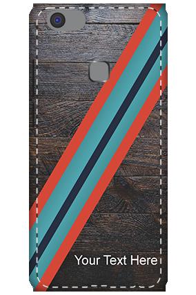 Premium 3D-Vivo V7 Plus Leatherette Look Mobile Cover