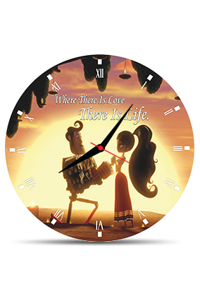 Beautiful Girl Round MDF Clock