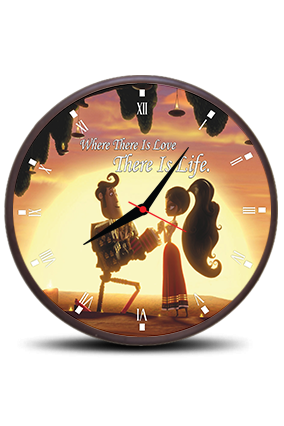 Beautiful Girl Round Clock With Frame