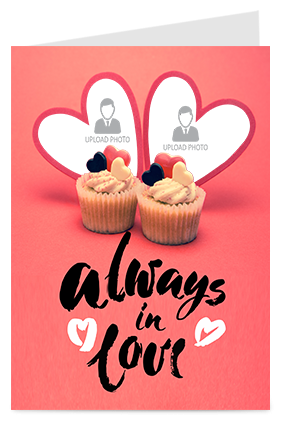 Always In Love Valentine Greeting Card