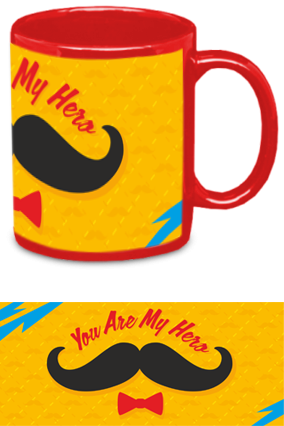 Personalized You Are My Hero Red Patch Mug