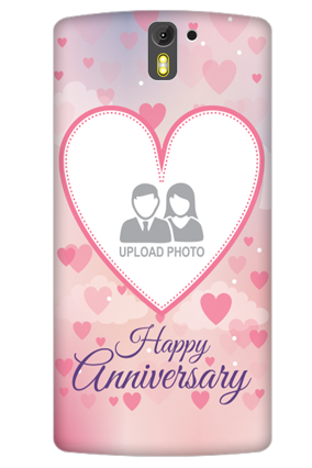 Customized 3D- OnePlus One True Love Anniversary Mobile Cover
