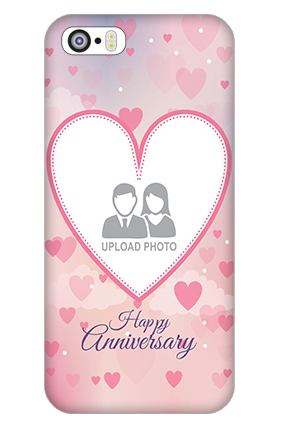 iPhone 5 Love & Heart Anniversary Mobile Cover