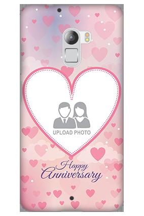 Silicon - Lenovo K4 Note Love & Heart Anniversary Mobile Cover
