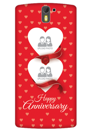 3D- OnePlus One Love & Heart Anniversary Mobile Cover