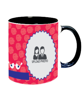 Funky Inside Black Mug With Black Handle