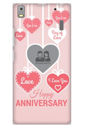 Lenovo K3 Note Pink Heart Anniversary Mobile Cover