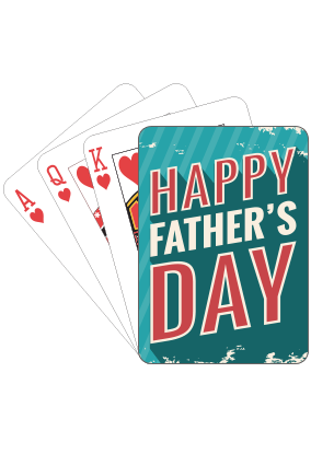 Card Gaming  Fathers Day Playing Cards