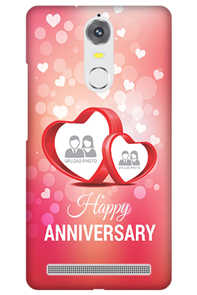 Lenovo K5 Floral Hearts Anniversary Mobile Cover