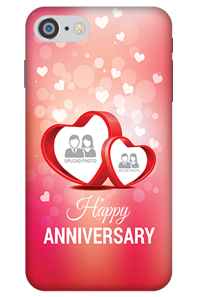 3D IPhone 7 Floral Hearts Anniversary Mobile Cover