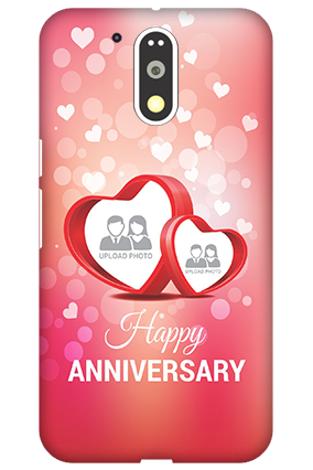 3D Motorola Moto G4 Plus Floral Hearts Anniversary Mobile Cover