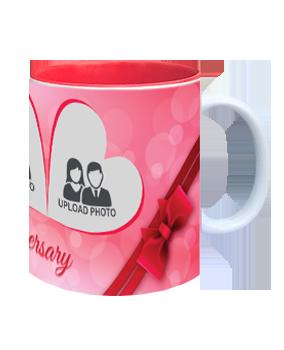 Married Happily Inside Red Mug