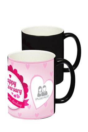 Anniversary Greetings Black Magic Mug