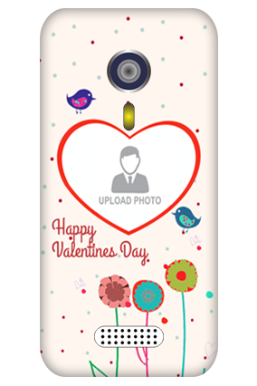 Custom Micromax A116 Floral Tweets Valentine Day Mobile Cover